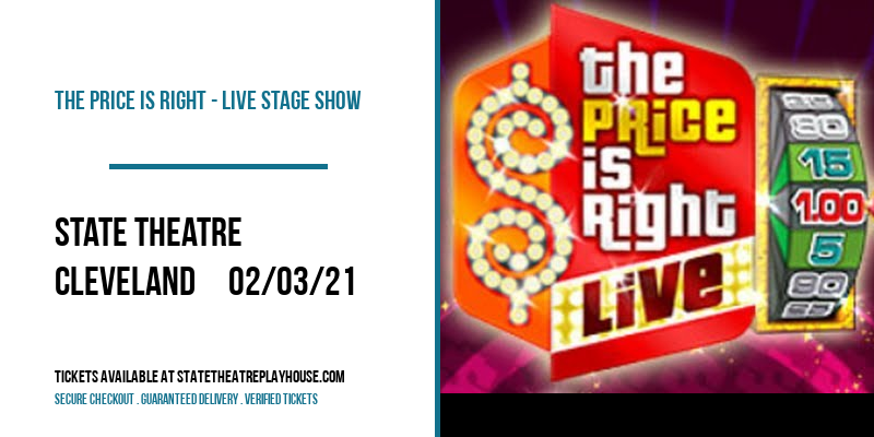 The Price Is Right - Live Stage Show [POSTPONED] at State Theatre